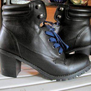 BDG Black Chunky Heel Combat Boot